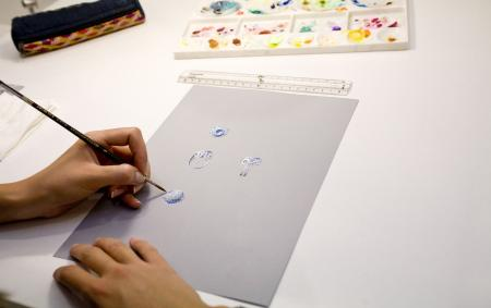 Drawing in gouache of a beautiful Van Cleef & Arpels's ring.