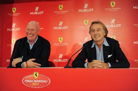 Jean-Claude Biver, CEO of Hublot, et Luca Cordero di Montezemolo, President of Ferrari S.p.A.©Raphael Faux