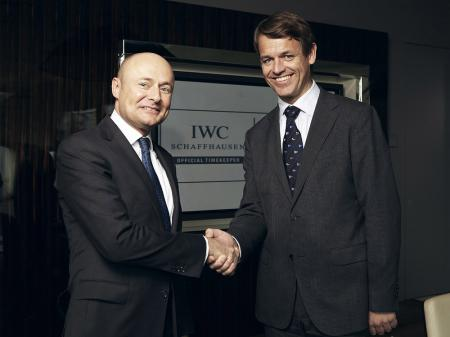 Georges Kern, CEO IWC Schaffhausen, and Knut Frostad, CEO Volvo Ocean Race.