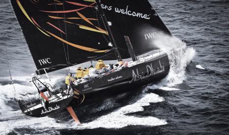 Abu Dhabi Ocean Racing team's monohull.©Ainhoa Sanchez