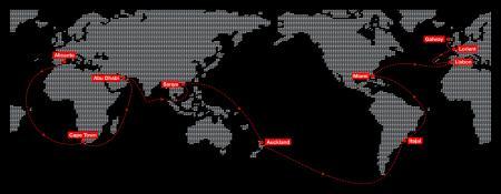 Volvo Ocean Race 2011-2012 map.