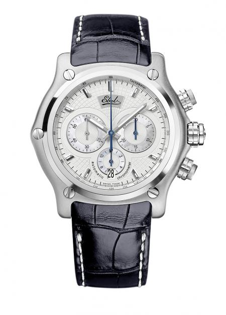 Ebel 1911 BTR Chronograph anniversary edition : automatic COSC movement, case in stainless steel, sapphire crystal case-back, limited edition of 500 pieces - 5 100 euros.