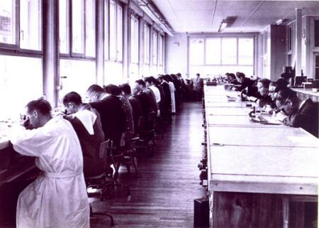 Ebel workshop's in La Chaux-de-Fonds. Archives photo.