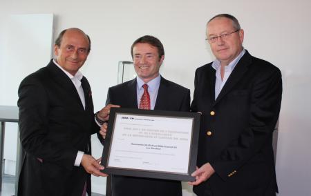 Richard Mille, Michel Probst et Dominique Guenat during the ceremony for the RM027 Tourbillon award.