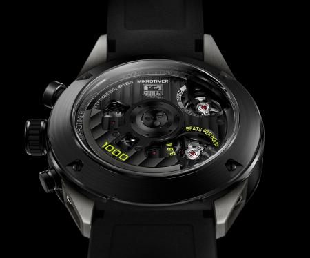 TAG Heuer Mikrotimer Flying 1000 Limited Edition. Caseback.