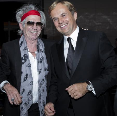 Keith Richards and Jean-Frédéric Dufour, Zenith President and CEO.