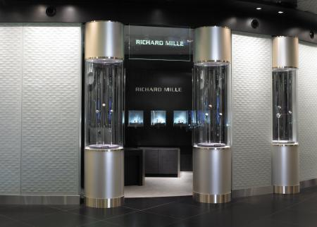 The Richard Mille boutique in the prestigious new 'The Fine Watch Room' of Harrods.