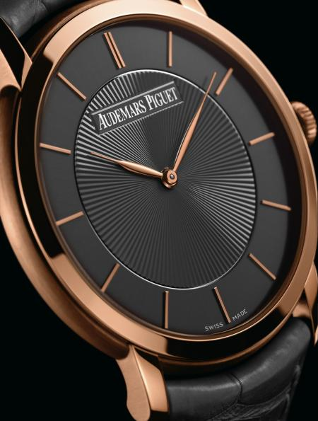 In pink gold, the Jules Audemars Extra-thin 'Bolshoi' is produced in limited edition at 50 pieces.