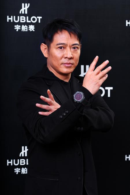Jet Li in action with the Hublot Jet Li limited edition watch.