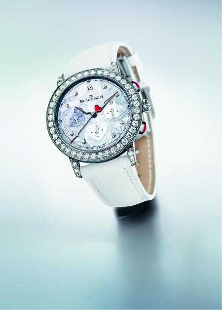 The Saint-Valentin Chronograph 2012 of Blancapin : a gift from the heart.