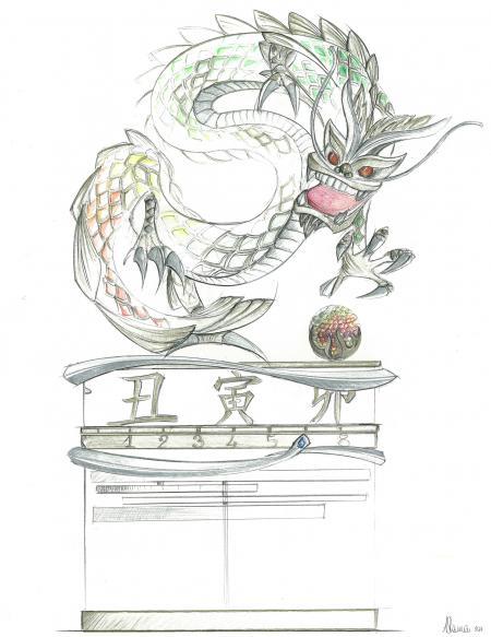 Parmigiani : Le Dragon et la Perle du Savoir.