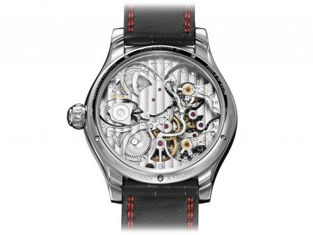 The Montblanc's TimeWriter II Chronographe Bi-Fréquence 1,000 : back view.