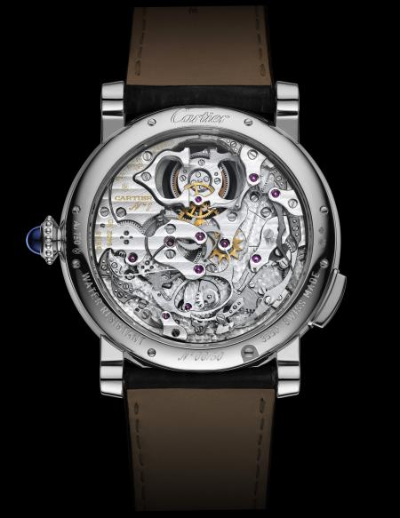 Rotonde de Cartier Minute Repeater Flying Tourbillon watch, calibre 9402 MC, Geneva Seal. Back view.