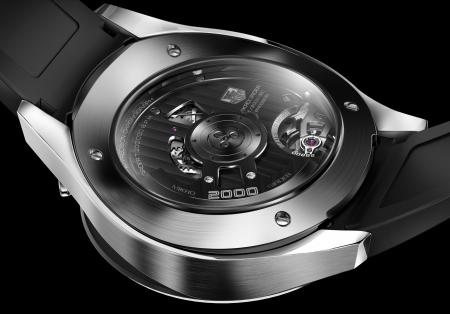The TAG Heuer Mikrogirder. Back view.