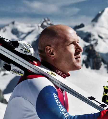 Didier Cuche, elite sportsman and Corum ambassador, named Swiss personality of 2011.