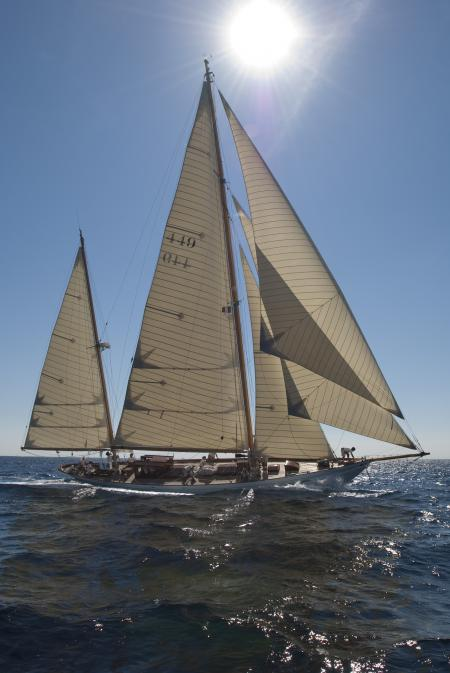 The Eilean, the 1936 Bermudian ketch, in all its glory.