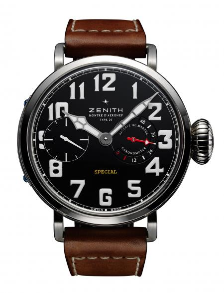The Zenith Type 20 Pilot's Watch will be formally presented at the Baselworld in march 2012. It is a limited edition at 250 pieces.