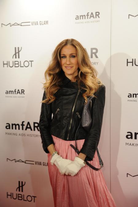 Sarah Jessica Parker during the amfAR New York Gala on February 8.