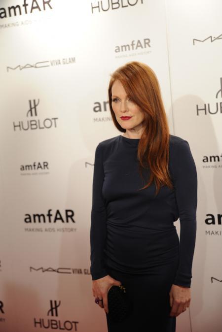 Julianne Moore - amfAR New York Gala on February 8.