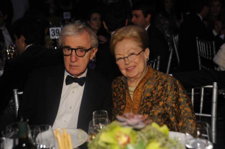 Dr Mathilde Krim and Woody Allen - amfAR New York Gala on February 8.