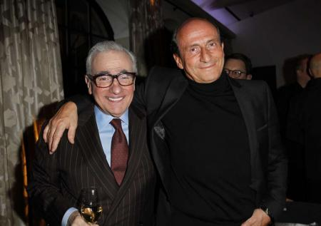 Martin Scorsese and Richard Mille during the reception evening organized with Vanity Fair for the realisator and The Film Foundation. © Donato Sardella