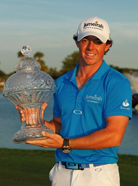 Rory Mcllroy with the Audemars Piguet Royal Oak Offshore Grand Prix.