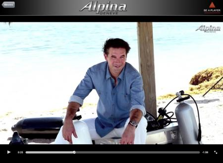 The american actor William Baldwin, new ambassador and face of 2012 advertising campaign of Alpina with the new Extreme Diver.