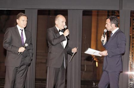 Christophe Moulin, Master of the Ceremony, presided the award ceremony.
