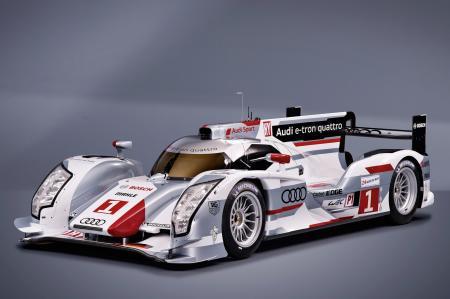 The hybrid car Audi R-18 e-tron quattro will be in Le Mans in June.