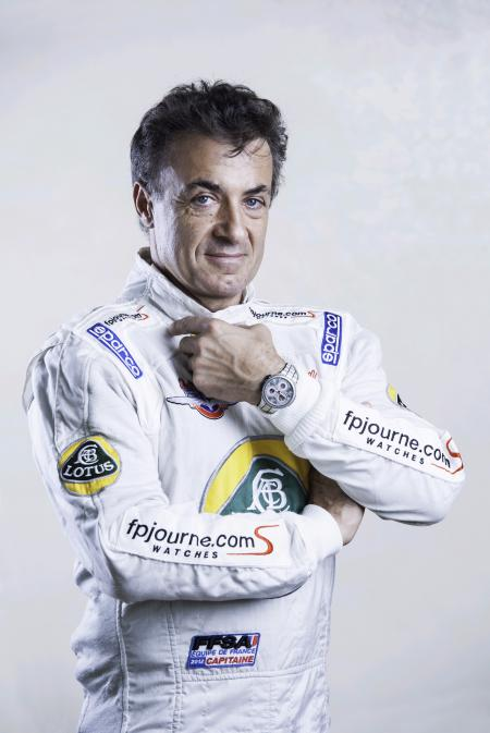 Jean Alesi with the F.P. Journe Centigraphe Sport.