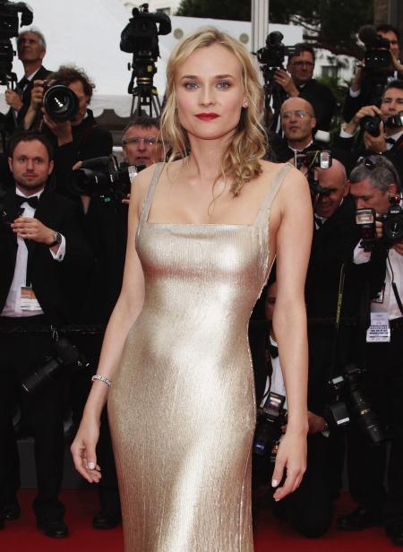 Diane Kruger wearing a Jaeger-LeCoultre 101 Joaillerie.
