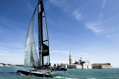 The AC45 Energy Team in the offing of Venice.