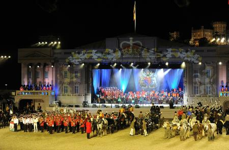 The Diamond Jubilee Pageant ceremony in the Windsor Castle.