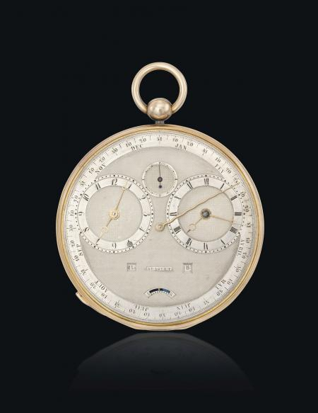 The Breguet n°4111 : a 'Grande Complication' watch from 1827 (equation-of-time, repeater watch, annual calendar and manuel perpetual calendar).