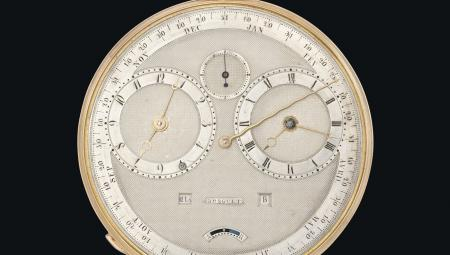 Focus on the Breguet n°4111 : a 'Grande Complication' watch from 1827 (equation-of-time, repeater watch, annual calendar and manuel perpetual calendar).