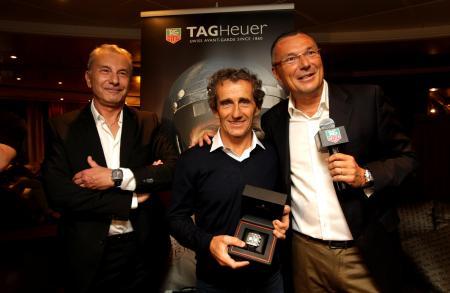 Michel Ferry, Alain Prost and Jean-Christophe Babin.