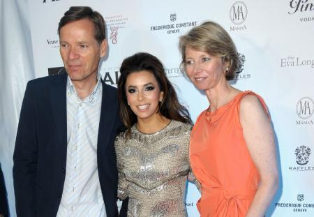 Aletta and Peter Stas, COO and CEO of Frédérique Constant, with Eva Longoria at the event organized in aid of the Foundation Eva Longoria and Les Anges de Gabrielle.