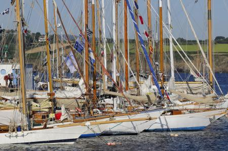 On December 2nd, classic sailing yachts cast off to race their way across the Atlantic Ocean. ©Jacques Vapillon