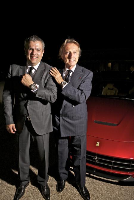 M. Ricardo Guadalupe, Hublot Chief Executive Officer, and M. Luca Cordero di Montezemolo, Chairman of Ferrari S.p.A.
