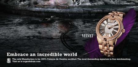 The world of the Diva for the Roger Dubuis Velvet.