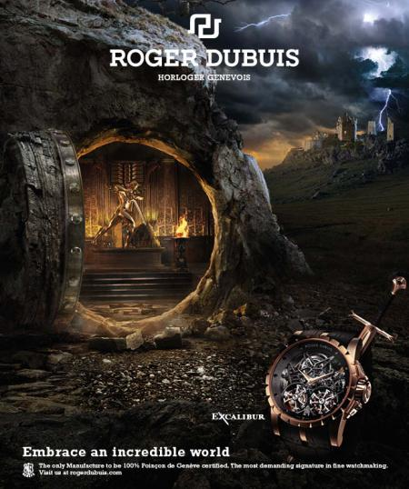 The world of the Warrior for the Roger Dubuis Excalibur Tourbillon.