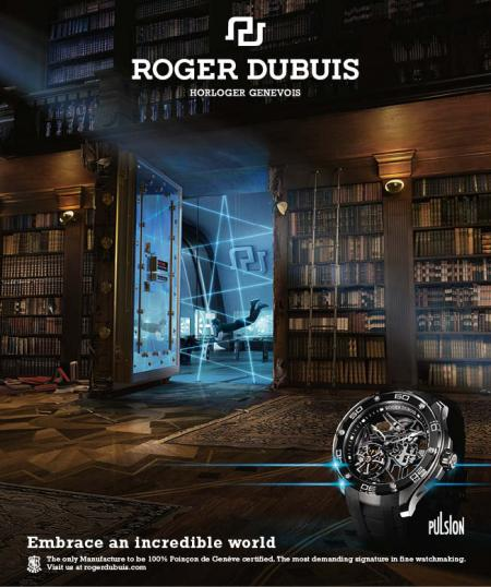 The world of the Venturer for the Roger Dubuis Pulsion.
