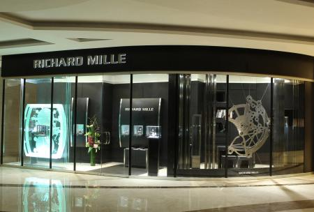 The new Richard Mille's boutique in Hong Kong is in West Kowloon.