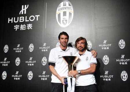 Gianluigi Buffon and Andrea Pirlo.