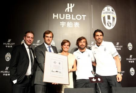 Hublot has become Official watch provider, Official Timekeeper and Official Watch of the prestigious Juventus of Turin from next season 2012/2013.