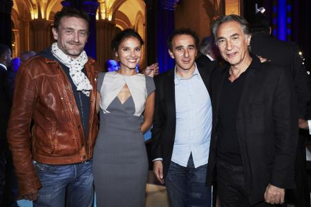 The french actors Jean-Paul Rouve, Virginie Ledoyen, Elie Semoun and Richard Berry during the evening party organized for the Pilot collection of Zenith.
