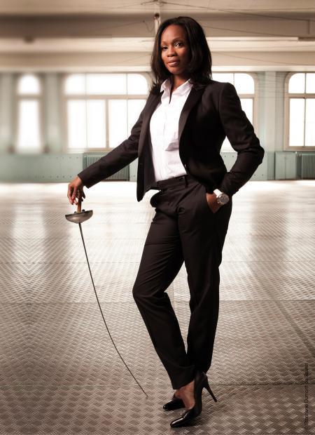 The French fencer Laura Flessel ©Stéphane Dumont de Sauret