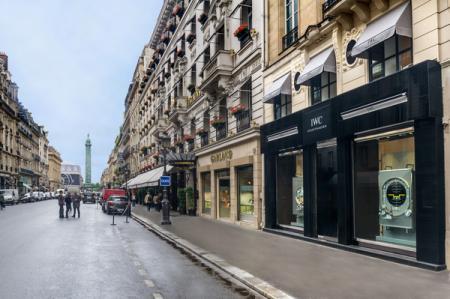 The boutique IWC on 15 rue de la Paix in Paris.
