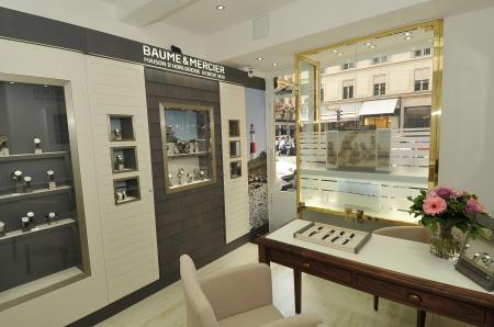 The Baume & Mercier showcase at Harrison rue de la Paix in Paris.
