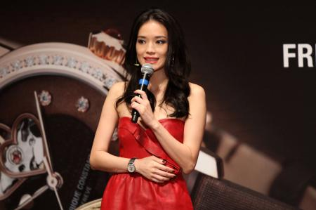 Shu Qi, Frédérique Constant brand ambassador, during the ceremony of the september 29 th in Los Angeles.